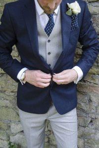 Chaleco y corbata boda